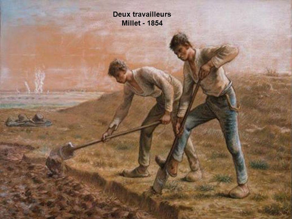 Deux travailleurs Millet - 1854