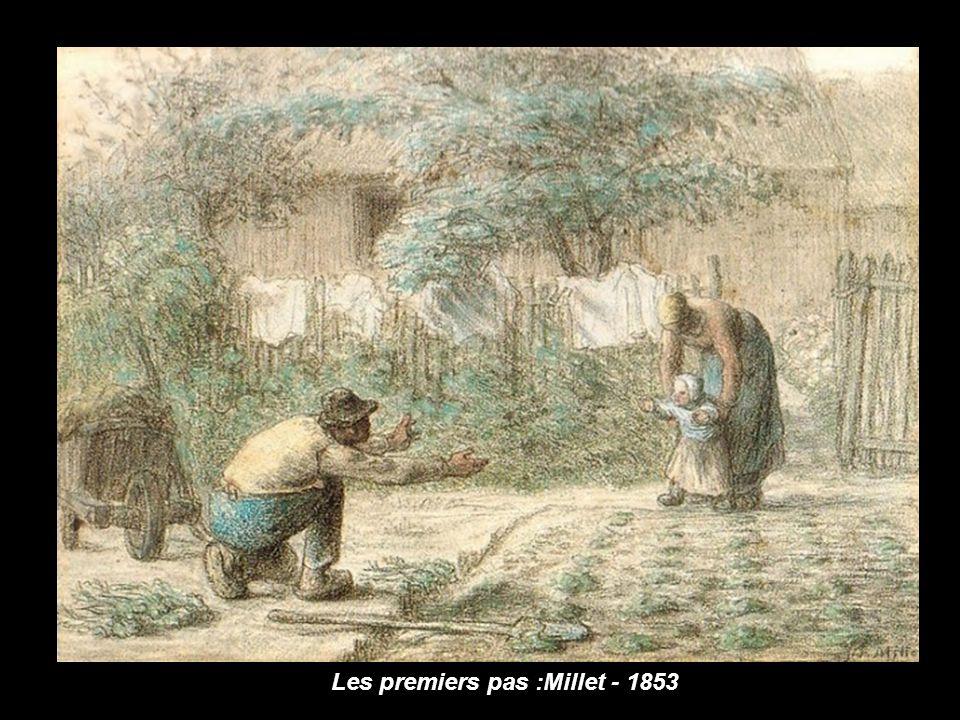 Les premiers pas :Millet - 1853