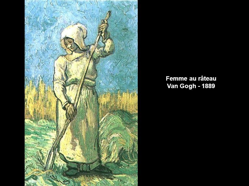 Femme au râteau Van Gogh - 1889