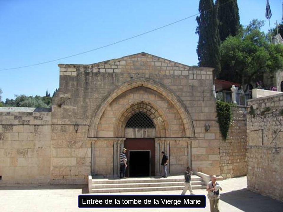 Entrée de la tombe de la Vierge Marie