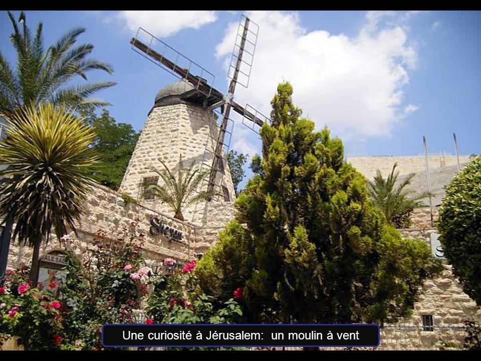 Une curiosité à Jérusalem: un moulin à vent