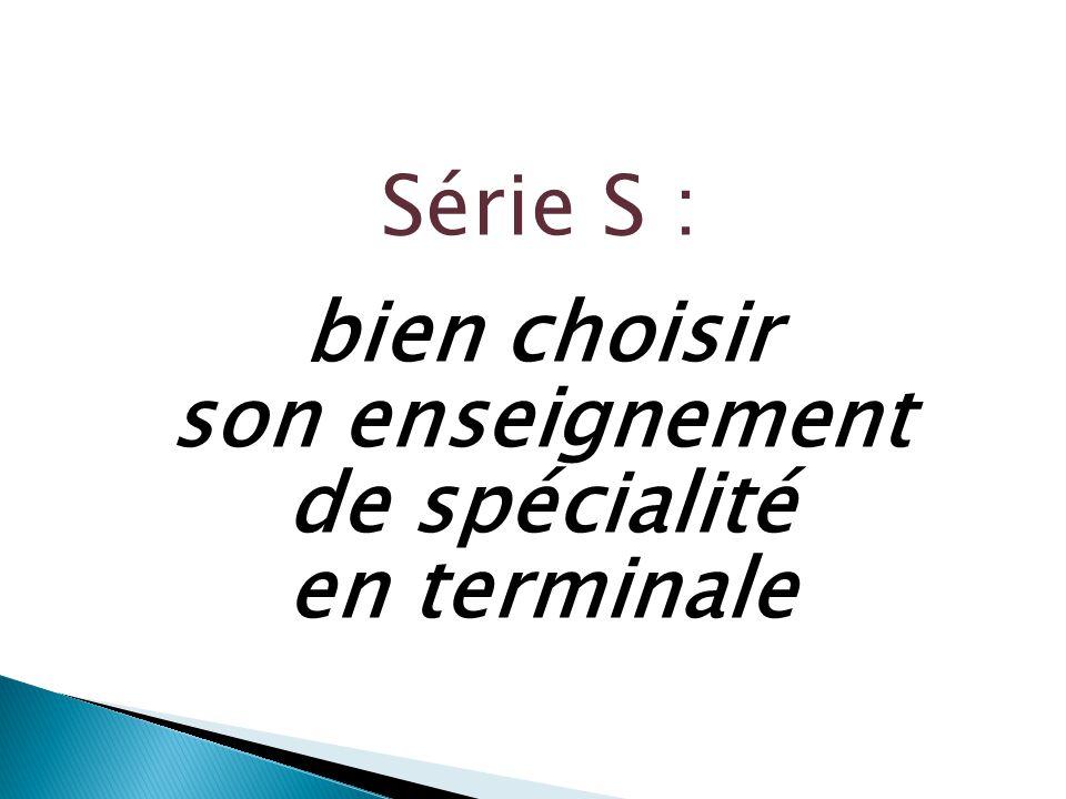 Série S : bien choisir son enseignement de spécialité en terminale