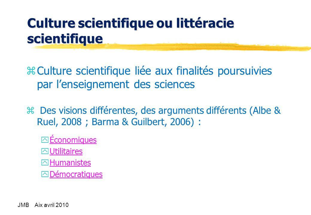 Culture scientifique ou littéracie scientifique
