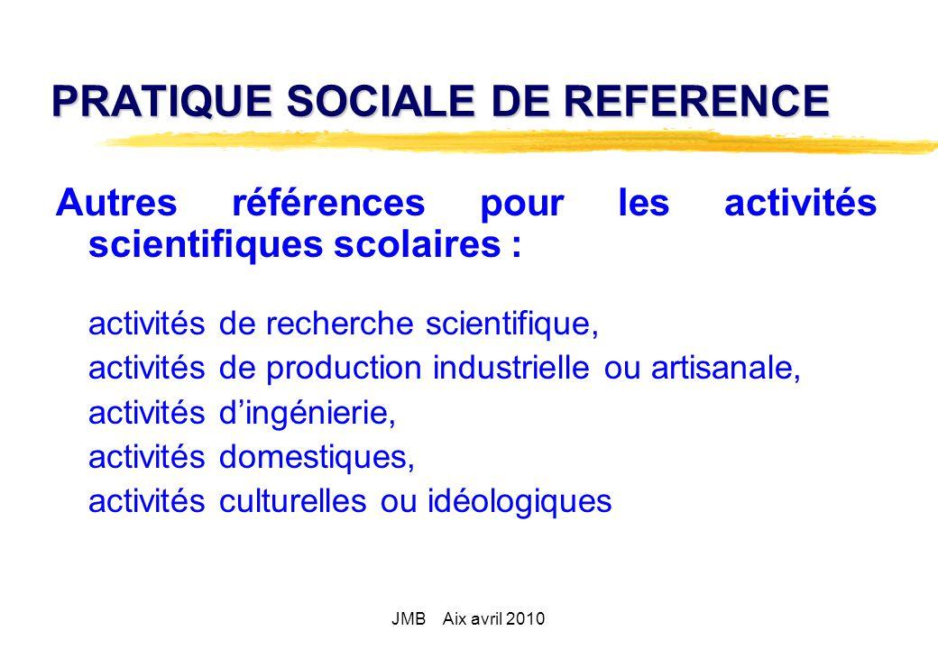 PRATIQUE SOCIALE DE REFERENCE