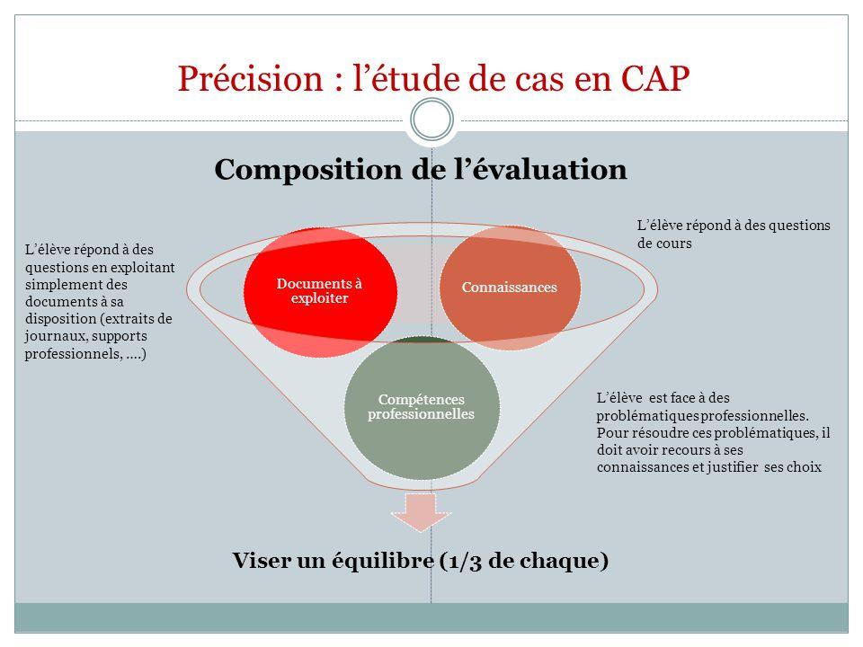 Précision : l'étude de cas en CAP