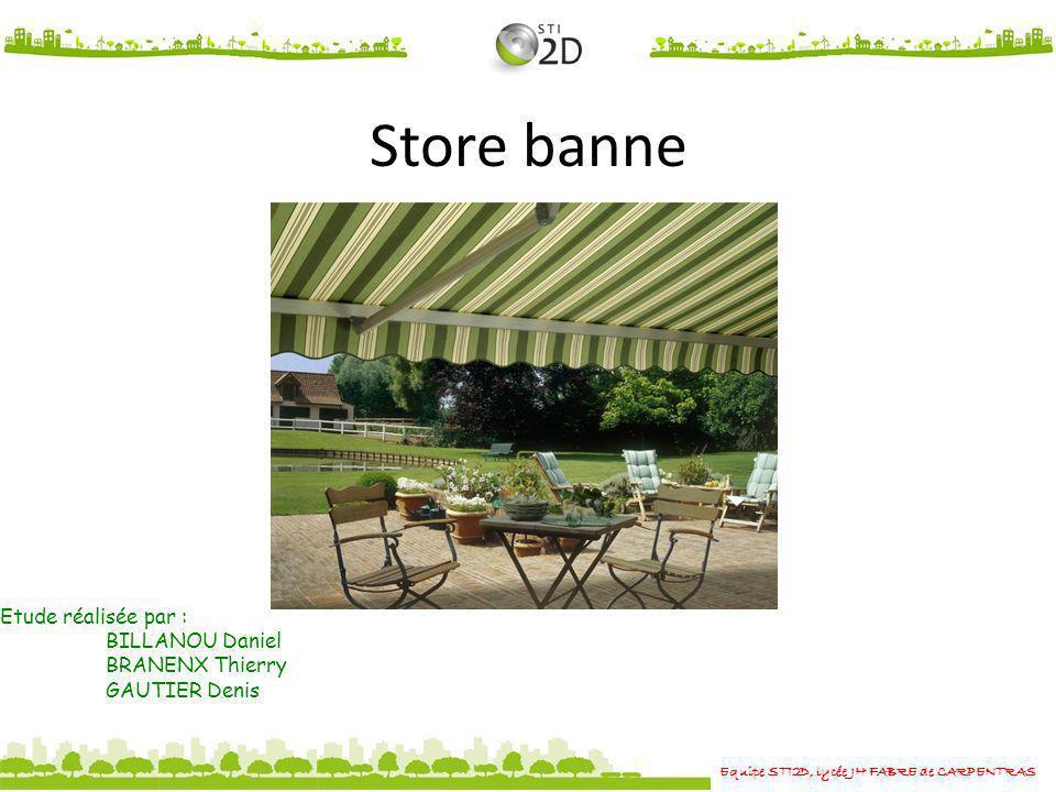 Store banne Etude réalisée par : BILLANOU Daniel BRANENX Thierry