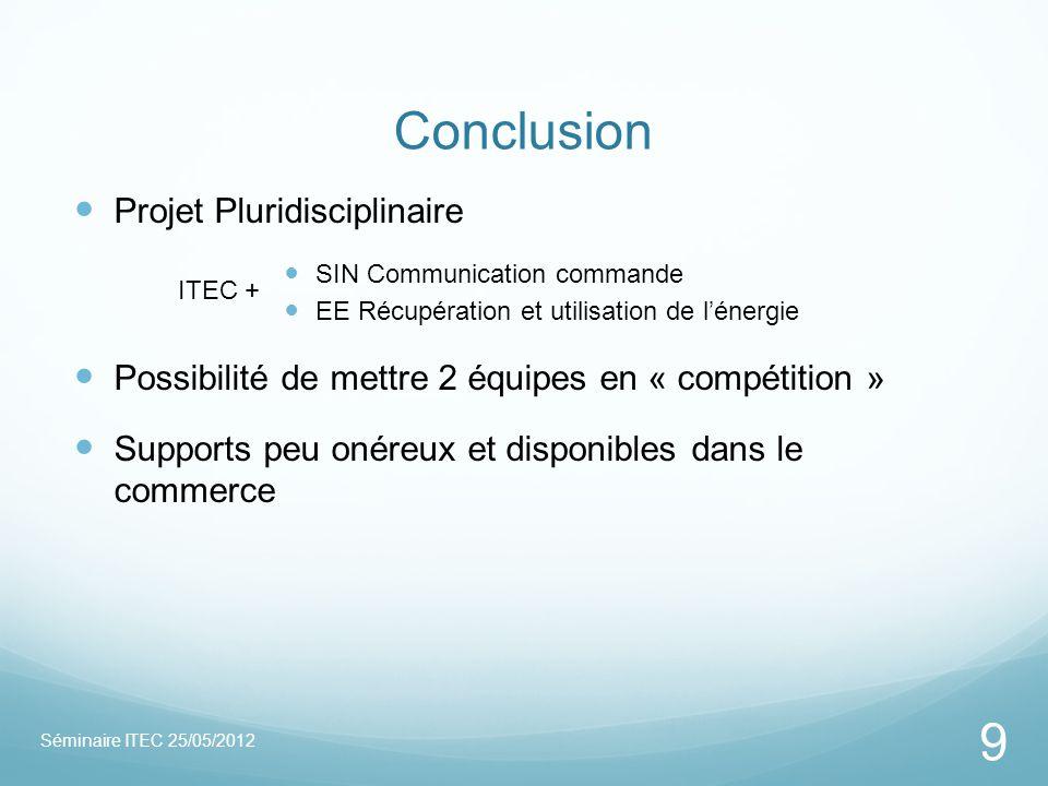 Conclusion Projet Pluridisciplinaire