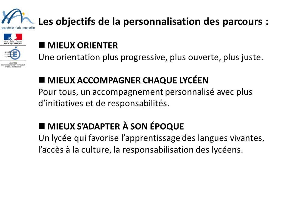 Les objectifs de la personnalisation des parcours :