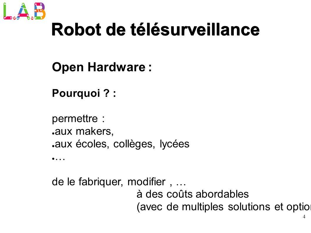Robot de télésurveillance