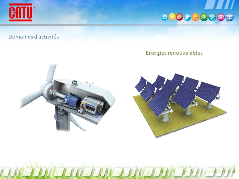 Domaines d'activités Energies renouvelables