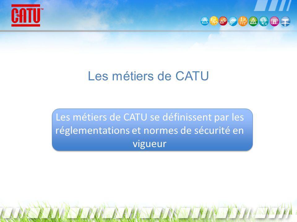 Les métiers de CATU Les métiers de CATU se définissent par les réglementations et normes de sécurité en vigueur.