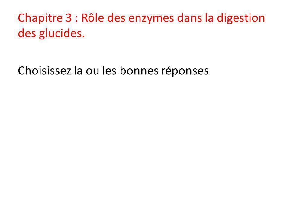 Chapitre 3 : Rôle des enzymes dans la digestion des glucides
