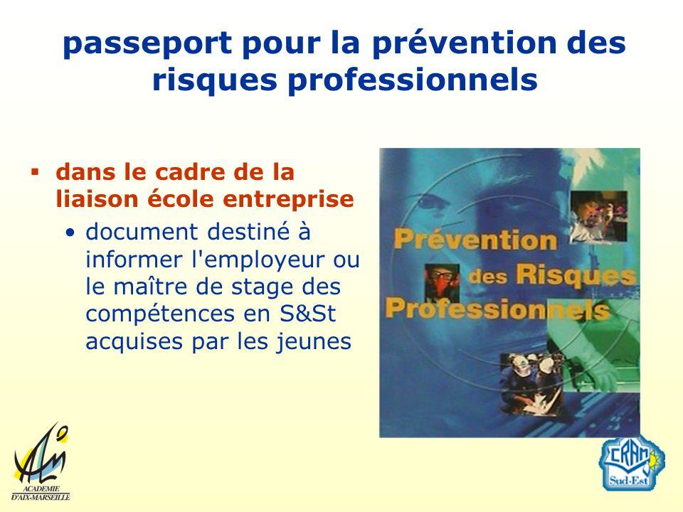 passeport pour la prévention des risques professionnels