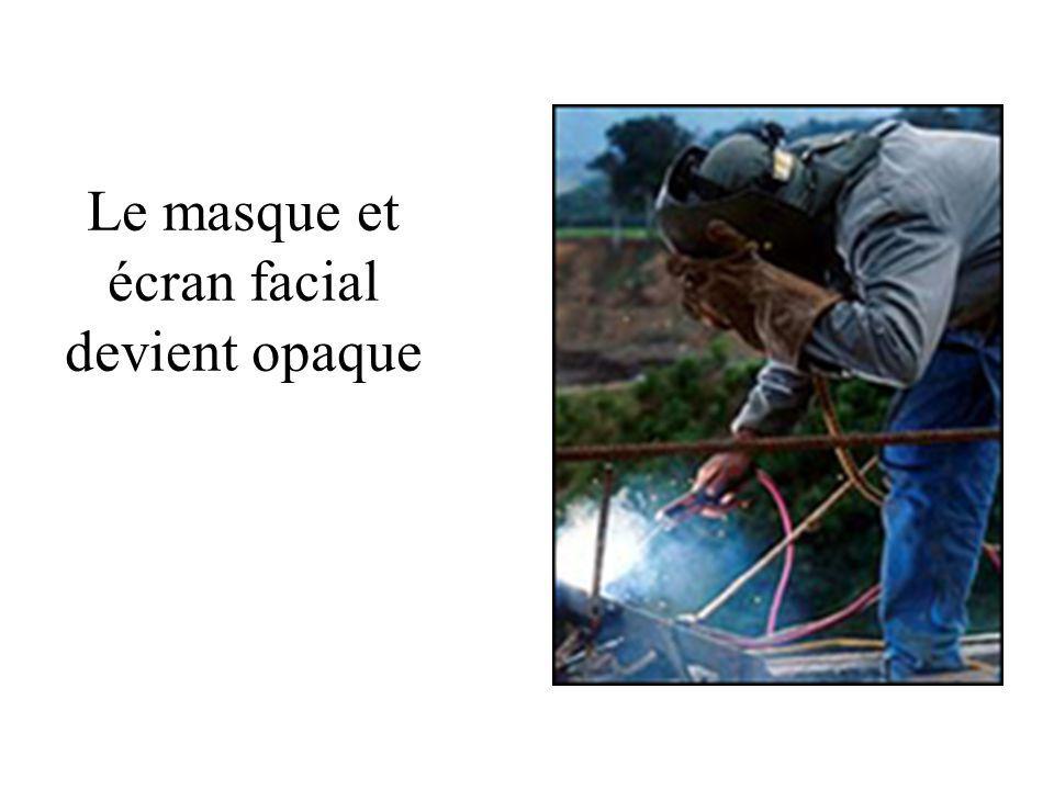 Le masque et écran facial devient opaque