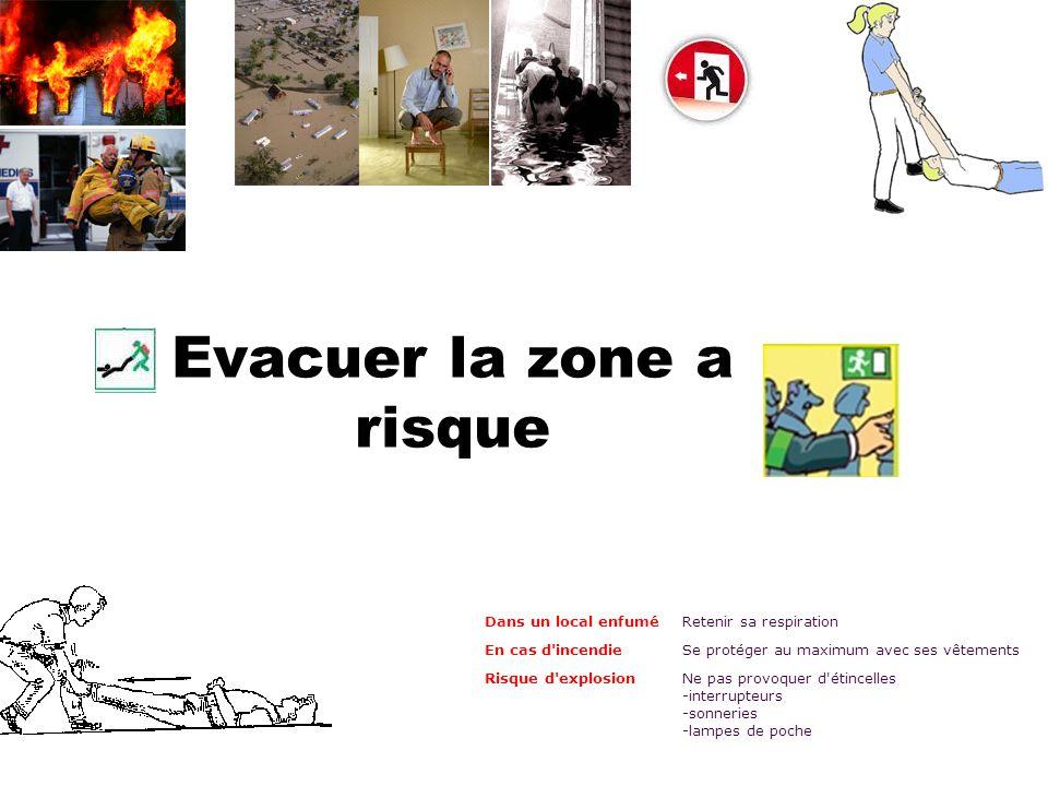 Evacuer la zone a risque