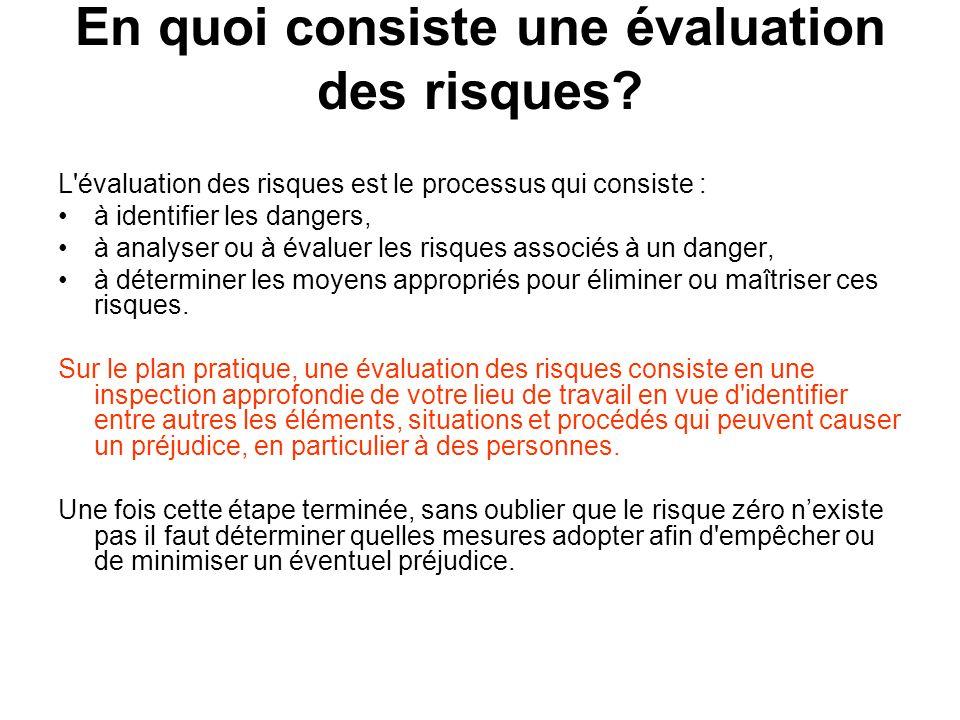 En quoi consiste une évaluation des risques