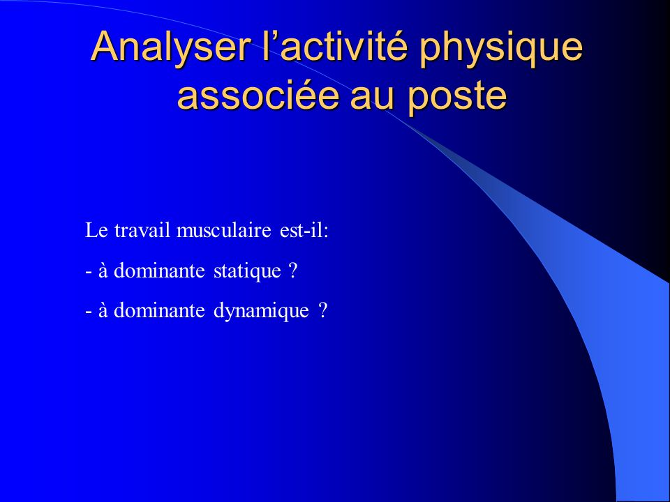 Analyser l'activité physique