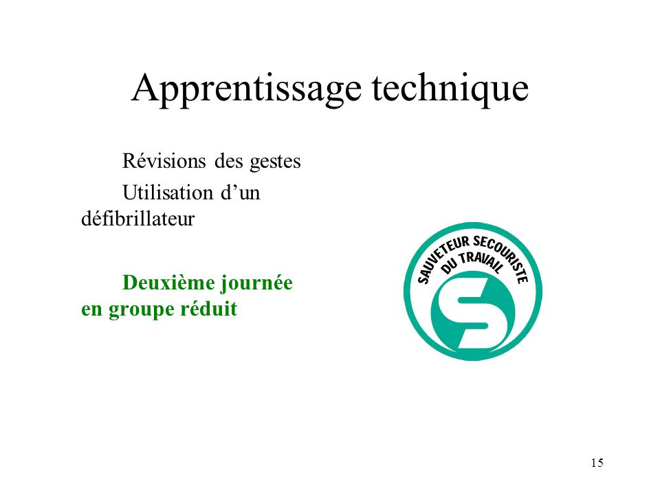 Apprentissage technique