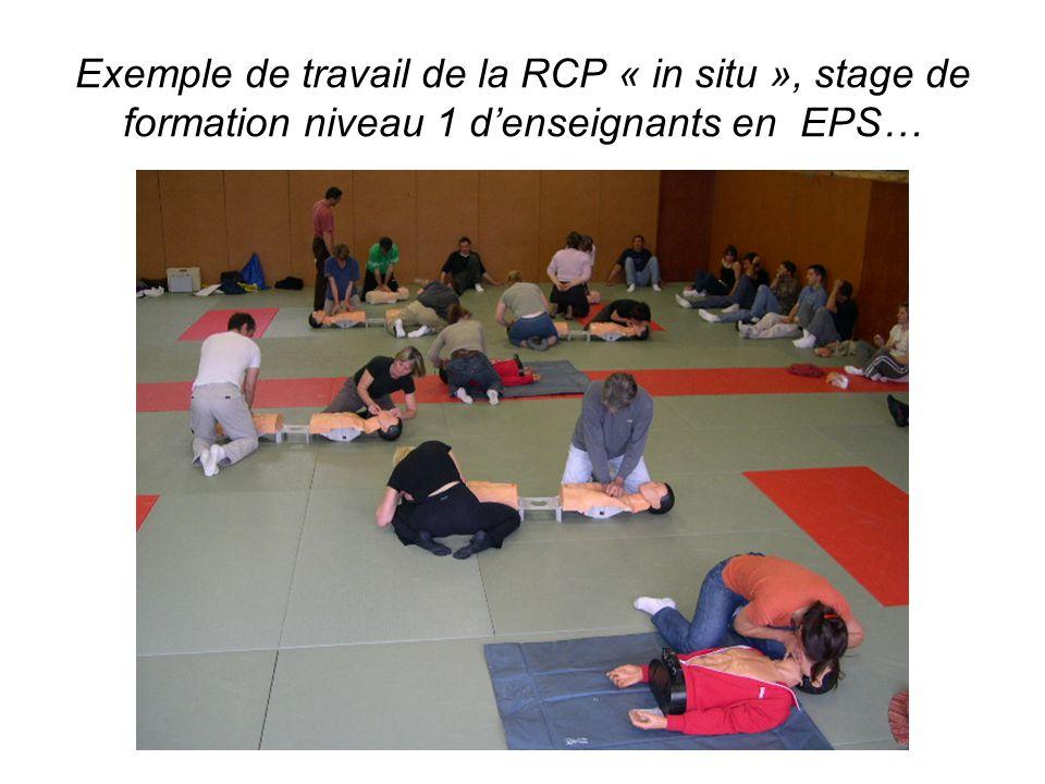 Exemple de travail de la RCP « in situ », stage de formation niveau 1 d'enseignants en EPS…
