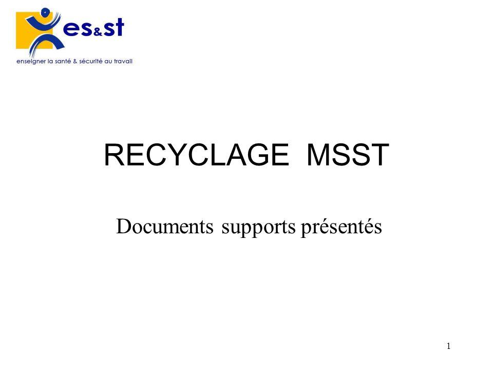 Documents supports présentés