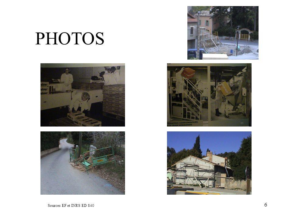 PHOTOS Sources EF et INRS ED 840