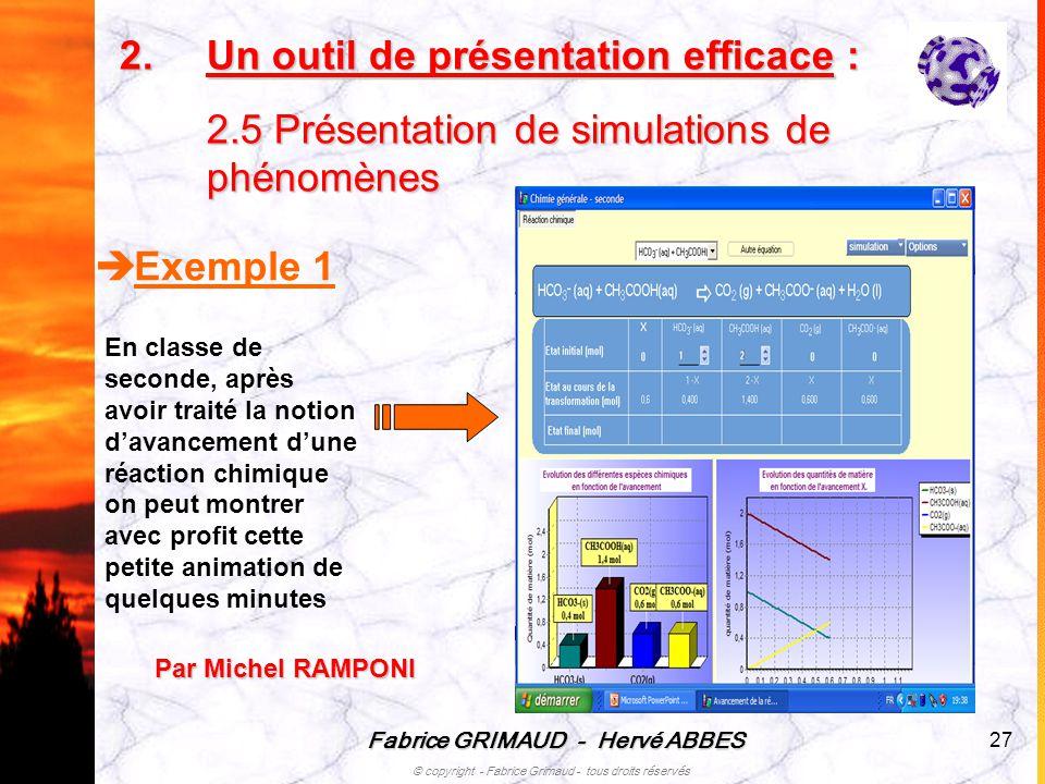 Un outil de présentation efficace : 2