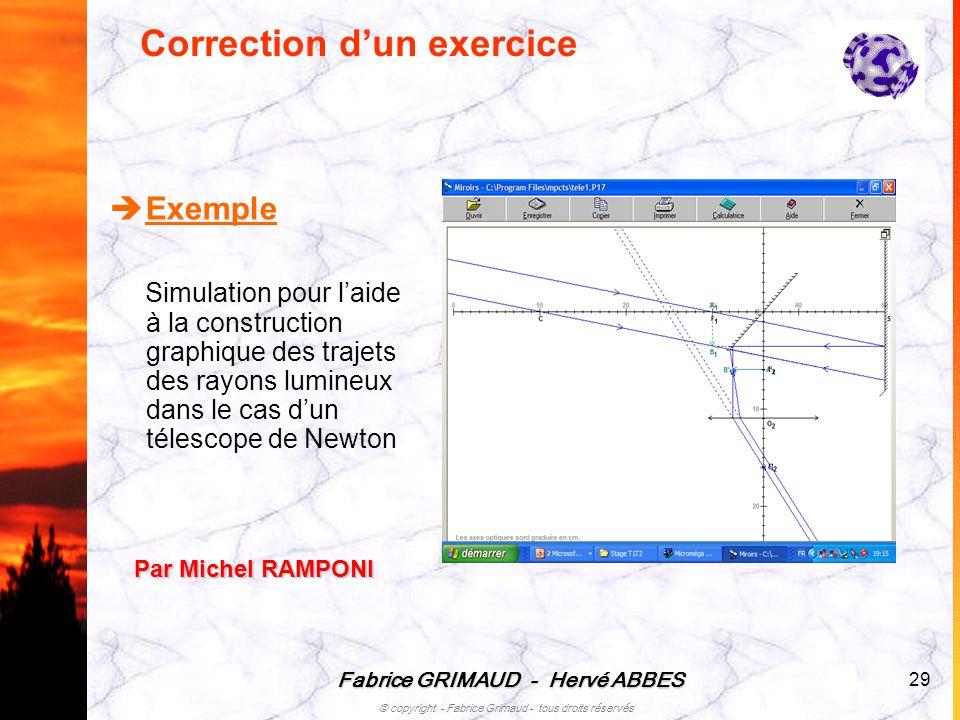 Correction d'un exercice