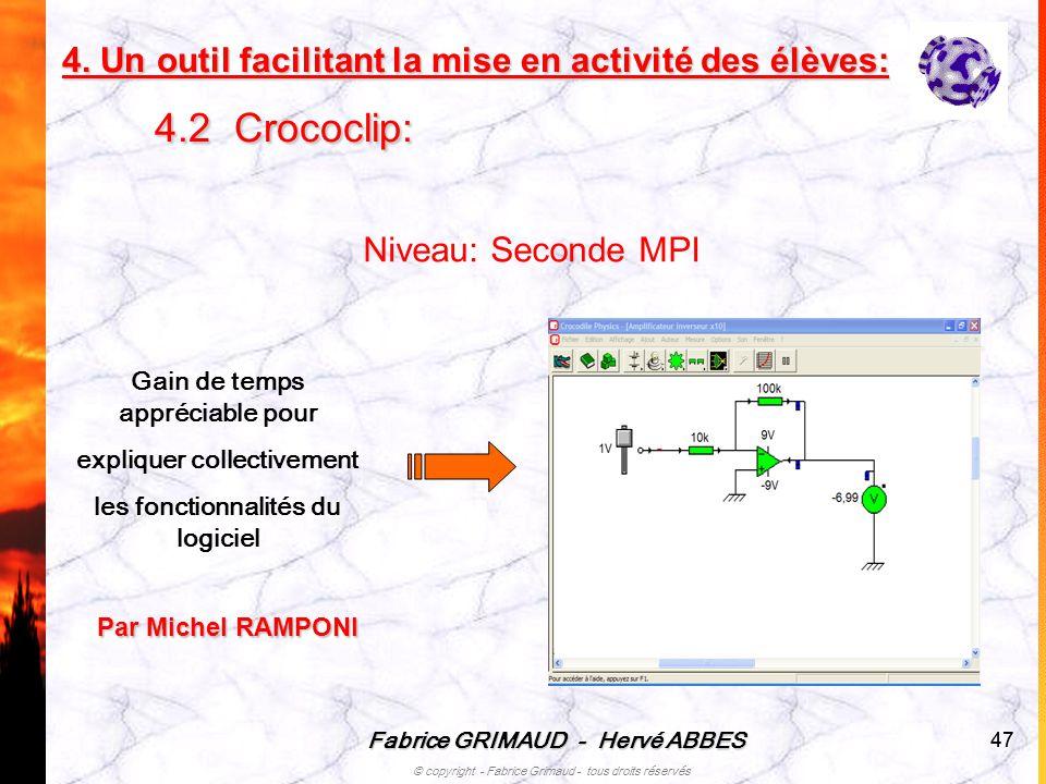 4. Un outil facilitant la mise en activité des élèves: 4.2 Crococlip:
