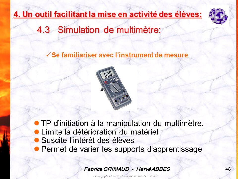 TP d'initiation à la manipulation du multimètre.