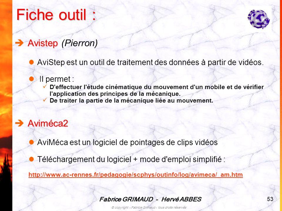 Fiche outil : Avistep (Pierron) Aviméca2