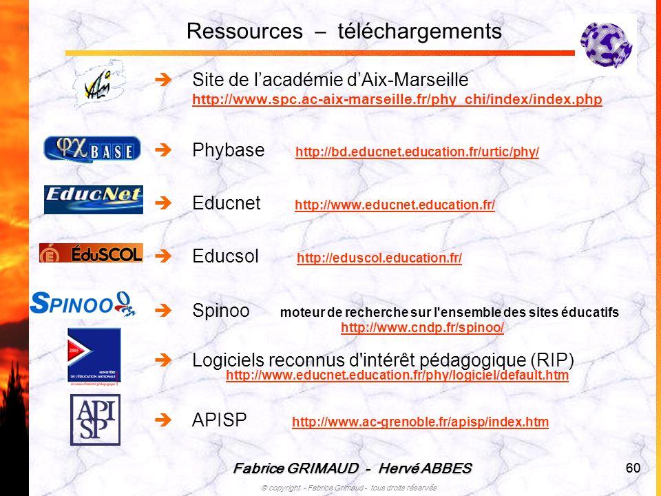 Ressources – téléchargements