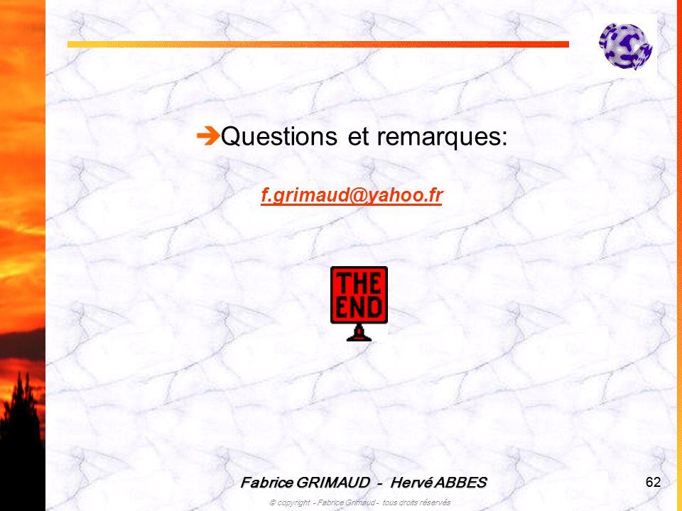 Questions et remarques: