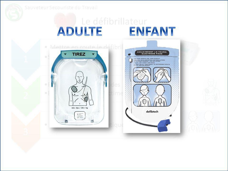 ADULTE ENFANT Le défibrillateur 1 Mettre en route le défibrillateur