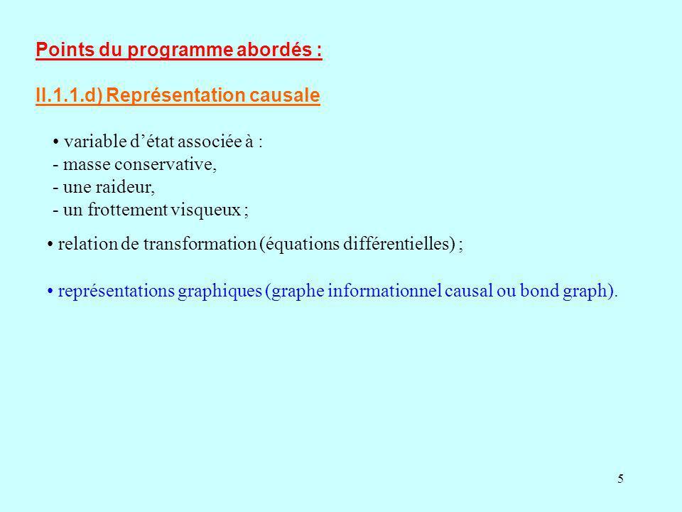 Points du programme abordés : II.1.1.d) Représentation causale