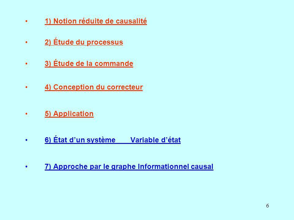 1) Notion réduite de causalité