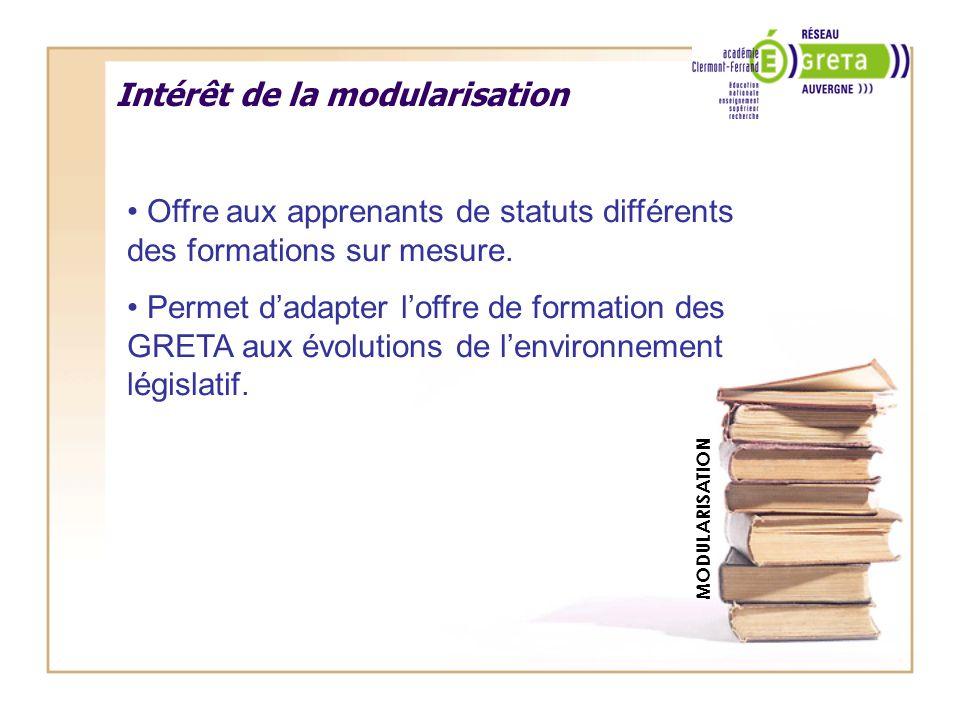 Intérêt de la modularisation