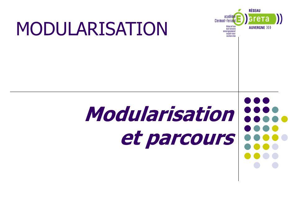 Modularisation et parcours