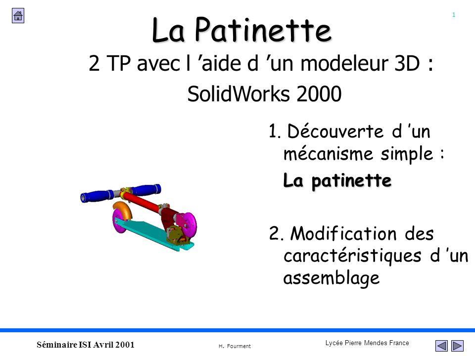 2 TP avec l 'aide d 'un modeleur 3D :
