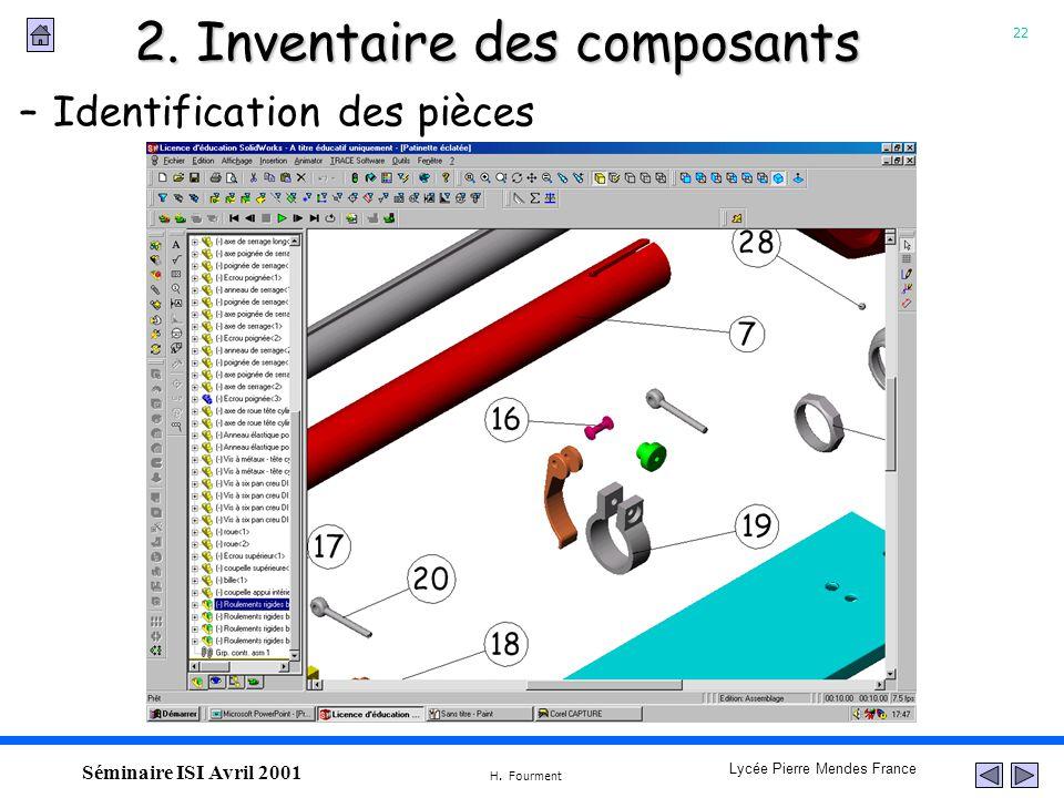 2. Inventaire des composants