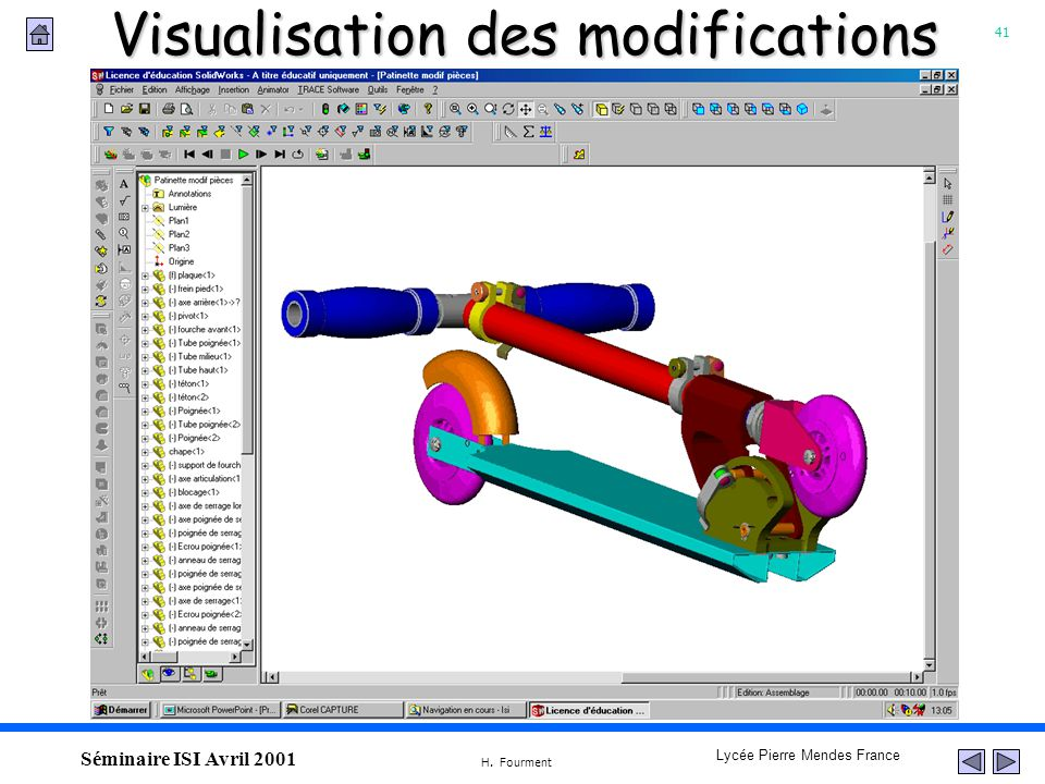 Visualisation des modifications