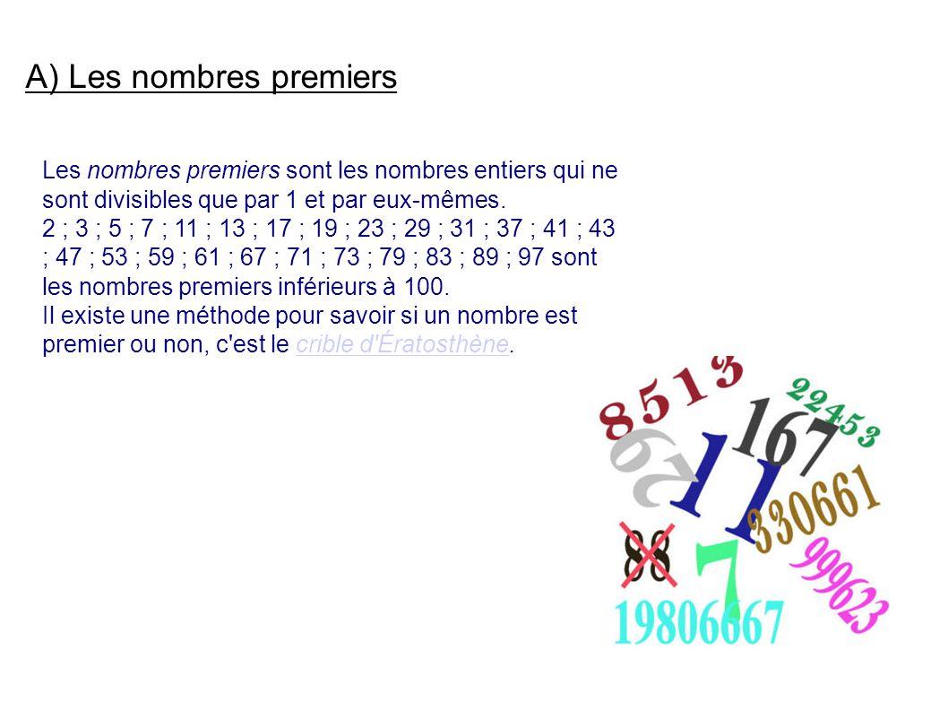 A) Les nombres premiers