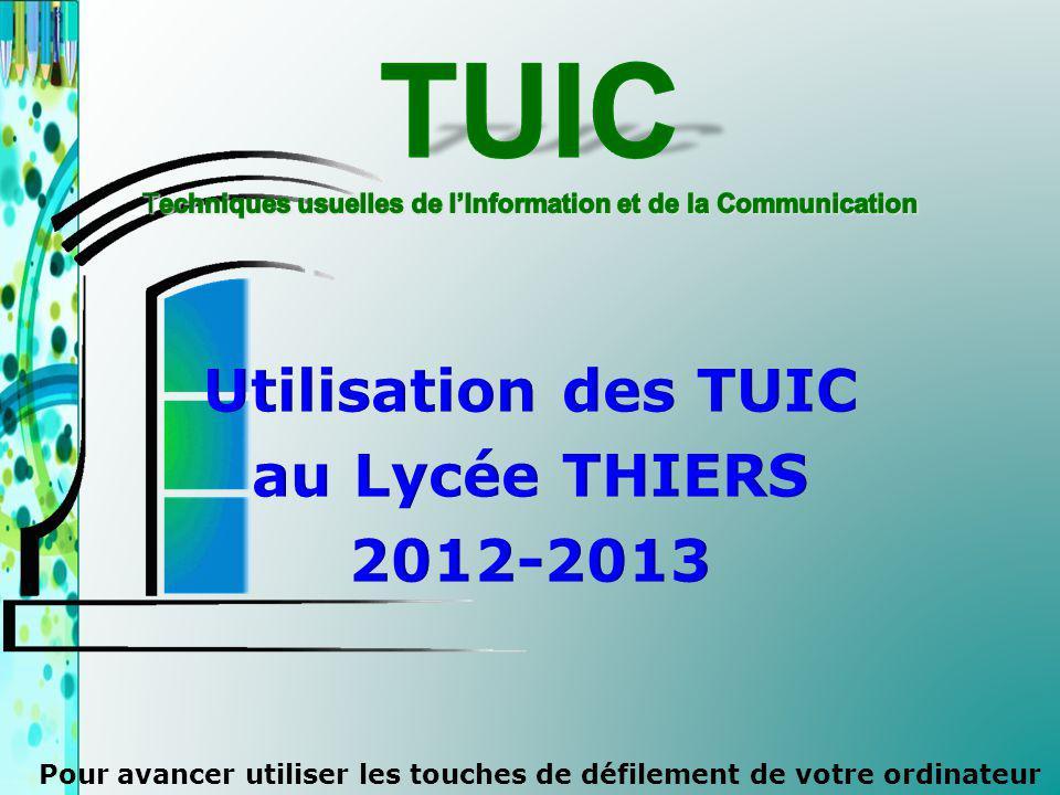 TUIC Techniques usuelles de l'Information et de la Communication