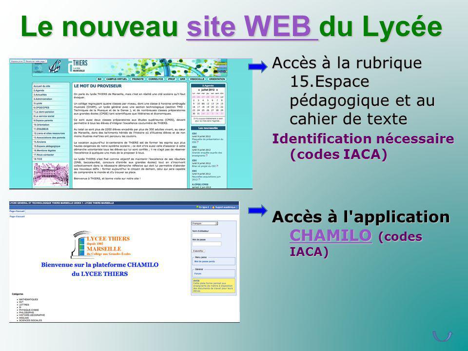 Le nouveau site WEB du Lycée