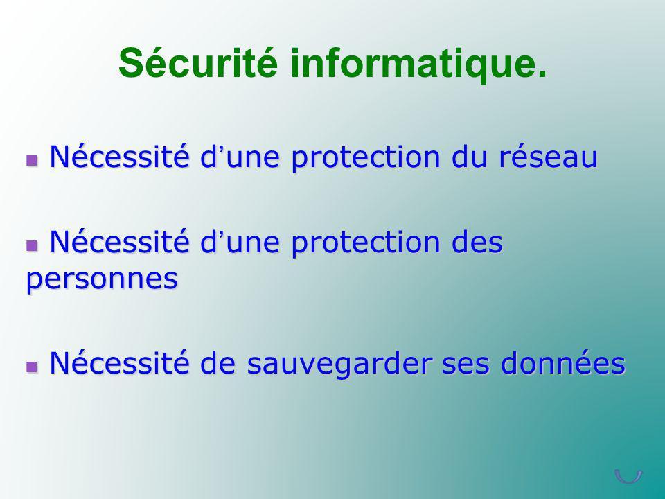Sécurité informatique.