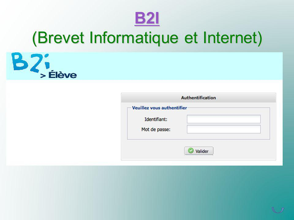 B2I (Brevet Informatique et Internet)
