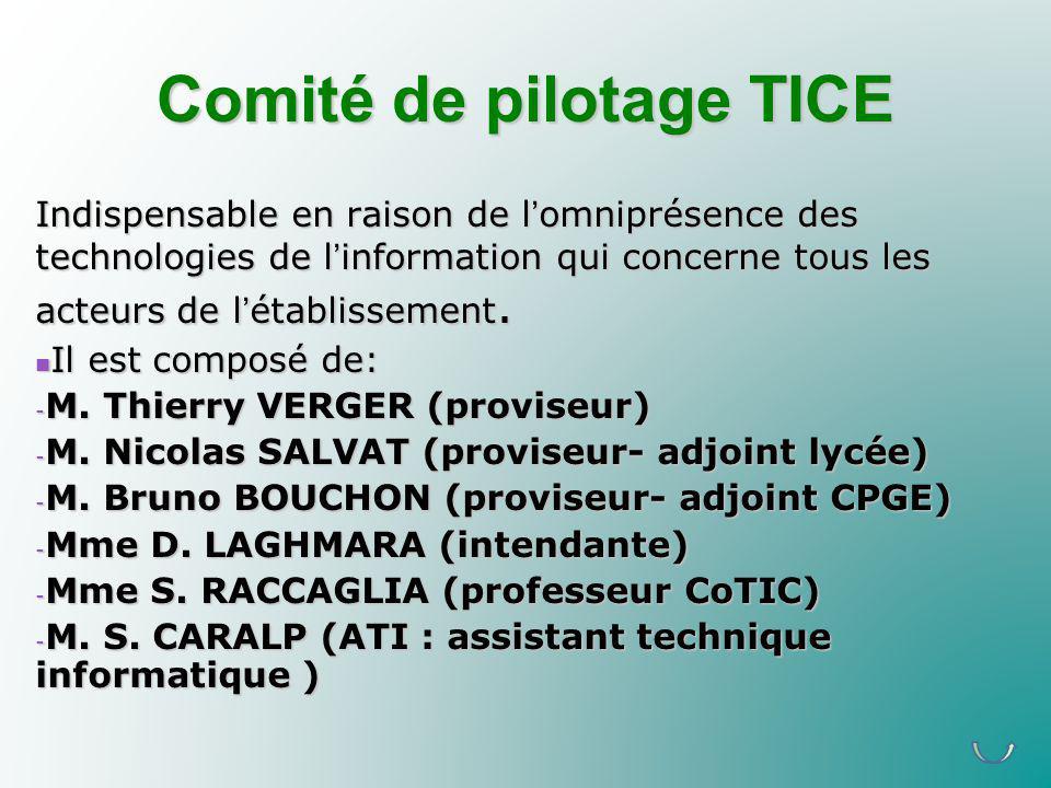 Comité de pilotage TICE