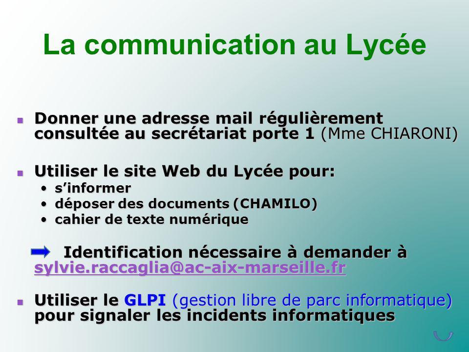 La communication au Lycée