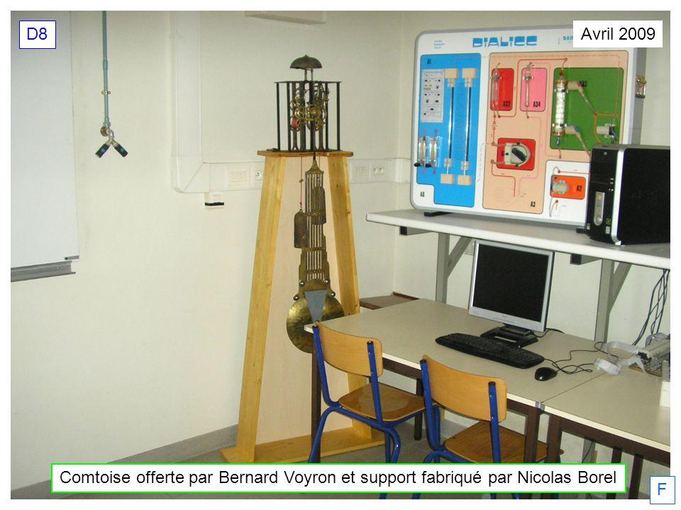 D8 Avril 2009 Comtoise offerte par Bernard Voyron et support fabriqué par Nicolas Borel F