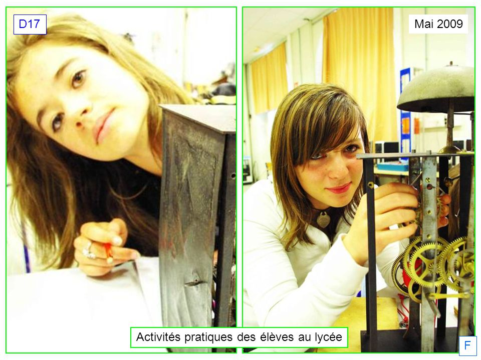 Activités pratiques des élèves au lycée