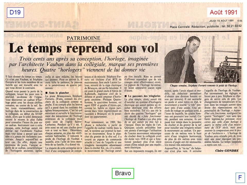 D19 Août 1991 Bravo F